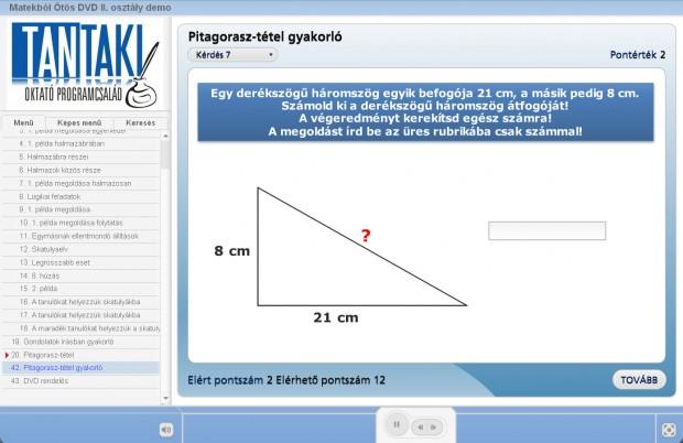 Matek 8 demo