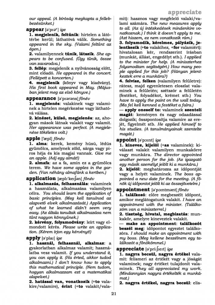 Angol magyar szótár kiejtéssel